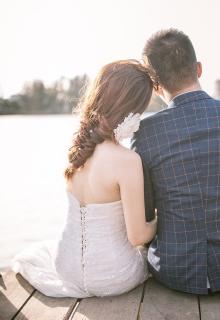 Bruiloft aan het water